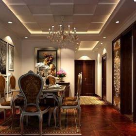 歐式古典三居室餐廳櫥柜裝修效果圖大全