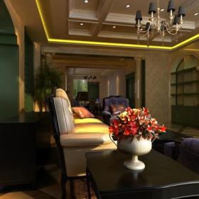 灯具吊顶吊灯欧式古典客厅吊顶客厅吊灯220㎡欧式古典风格?#35789;?#27004;客厅装修效果图欧式古典风格边几图片