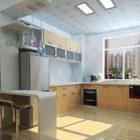 91-120平米二居室110平兩居室宜家風格廚房吧臺裝修效果圖