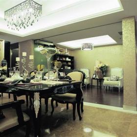 餐廳吊頂歐式古典風格餐桌椅圖片效果圖大全