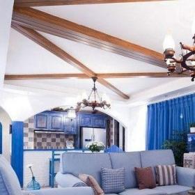 歐式古典風格復式房子裝修效果圖