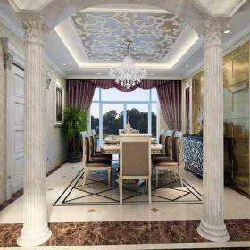 吊頂歐式古典歐式古典風格別墅餐廳吊頂裝修效果圖歐式古典風格餐桌椅圖片