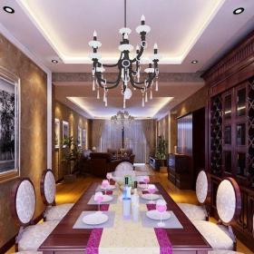 歐式古典三居室餐廳裝修效果圖大全