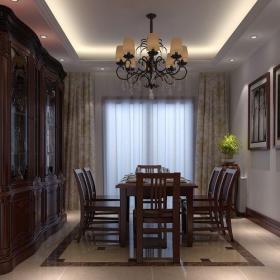 歐式古典四居室餐廳酒柜裝修圖片裝修效果圖