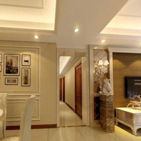 歐式古典三居室餐廳餐桌裝修效果圖大全