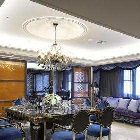 歐式古典風格餐廳吊頂圖片大全裝修效果圖