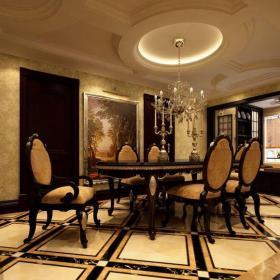 歐式古典四居室餐廳吊頂裝修圖片效果圖大全