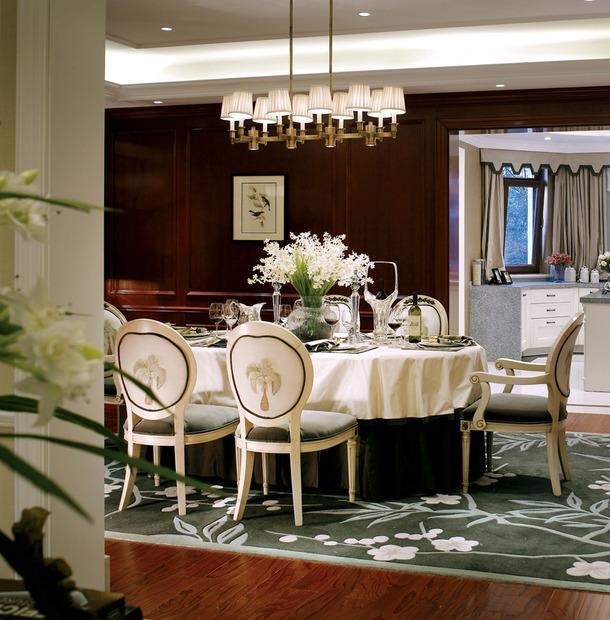 大戶型歐式古典餐廳裝修圖片效果圖大全
