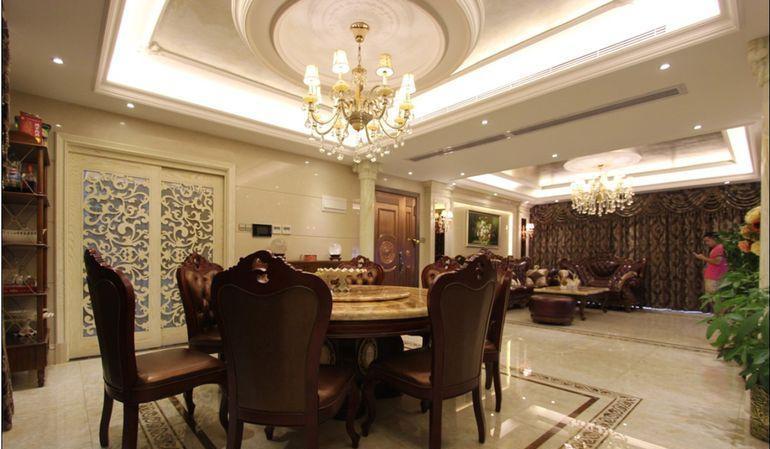 歐式古典四居室餐廳餐桌裝修圖片效果圖大全