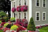 欧式复式楼入户花园五彩斑斓的花园设计效果图