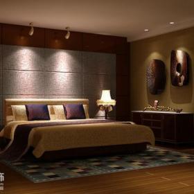 射灯卧室床头背景墙床头柜现代风格小复式楼主卧室背景墙装修效果图现代风格卧室储物柜图片