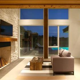 宜家風格現代歐式風格復式住宅暖色調豪華型設計圖效果圖