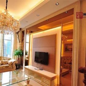 180平米歐式復式樓客廳電視背景墻效果圖