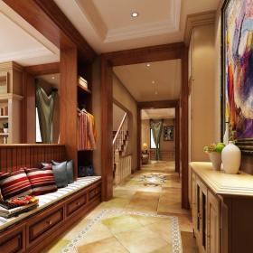 現代簡約五居室玄關書柜裝修圖片裝修效果圖