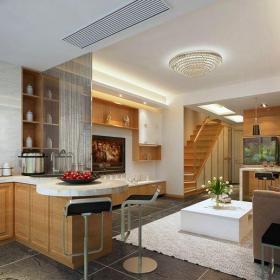 現代簡約復式廚房櫥柜裝修圖片效果圖