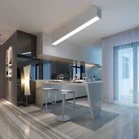 吧台吧台椅橱柜210㎡复式楼现代风格开放式厨房吧台装修效果图现代风格吧台椅图片