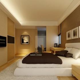 現代簡約復式臥室背景墻裝修圖片效果圖