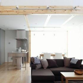 日式復式風格裝修木質塑造簡潔風效果圖