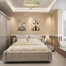 簡約白色臥室吊頂現代風格hold住小戶型臥室效果圖大全
