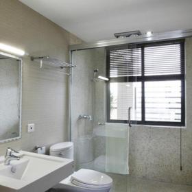 簡約風格洗浴間簡易淋浴房裝修圖片簡約風格面盆圖片裝修效果圖