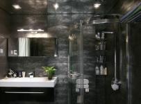 现代简约三居室卫生间隔断装修效果图欣赏