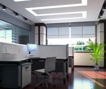 现代风格办公室隔断装修效果图现代风格办公桌椅图片