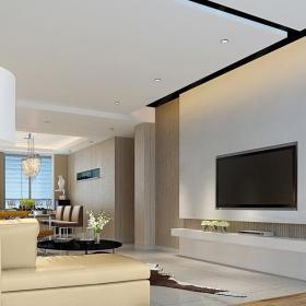 現代復式起居室模型效果圖