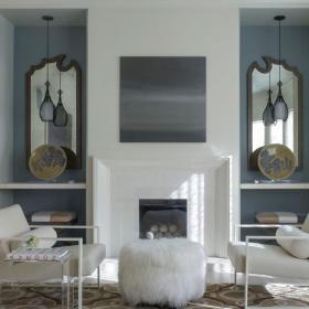 起居室壁爐裝飾效果圖