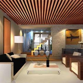 客廳現代簡約風格復式起居室裝修效果圖,現代沙發圖片