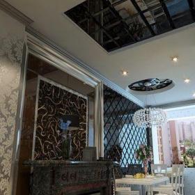 欧式餐厅吊顶效果图 餐厅隔断效果图