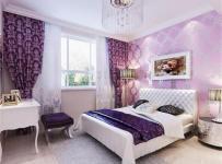 中式风格三居室卧室床装修图片效果图
