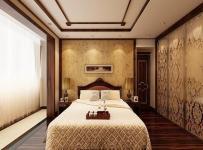 中式古典三居室卧室床头柜装修图片效果图
