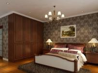 中式风格三居室卧室吊顶装修效果图欣赏