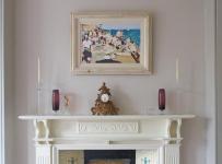 露臺花園美式風格臥室復式室內白色廚房門廳柜裝修效果圖
