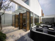 露台阳台门现代简约风格上海二层别墅效果图