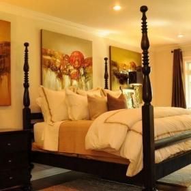 美式臥室床上用品家居圖片效果圖大全