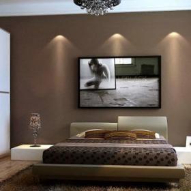 三居現代簡約臥室效果圖