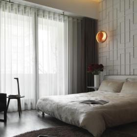 时尚简中式卧室装饰效果图