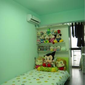 現代臥室背景墻綠色臥室裝修效果圖