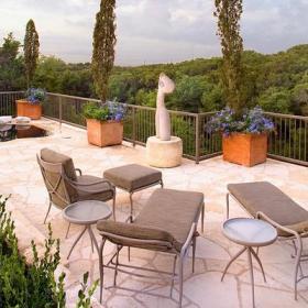 花园沙发椅露台茶几现代风格露天阳台花园装修效果图现代风格懒人沙发图片