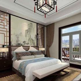 中式风格卧室装饰画中式效果图