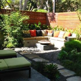 花园折叠椅沙发露台现代风格露天阳台花园装修图片现代风格折叠椅图片效果图