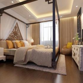卧室背景墙混搭风格卧室装修效果图