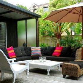 单人沙发花园露台茶几椅凳现代风格露天阳台花园装修图片现代风格沙发图片效果图大全