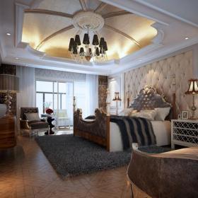 吊頂背景墻吊頂歐式風格三居室臥室裝修效果圖