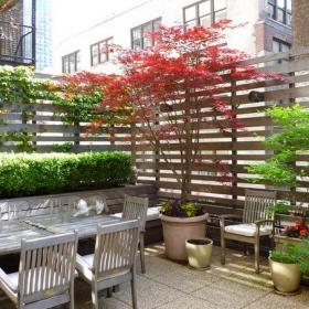 露台花园休闲椅简约风格露天阳台花园装修图片简约风格椅凳图片装修效果图