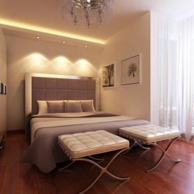 吊顶背景墙吊顶卧室背景墙现代卧室效果图