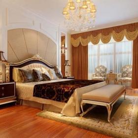 臥室背景墻歐式風格臥室裝修效果圖