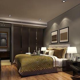 现代简约二居室卧室推拉门装修效果图欣赏