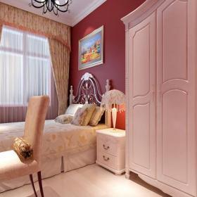 窗帘背景墙中式风格二居室卧室背景墙装修效果图中式风格窗帘图片
